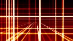 Stock Video Footage of Abstract digital vertical and horizontal red lines background, seamless loop