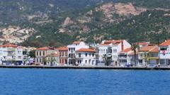 Seaside summer travel destination, foca, turkey Stock Footage