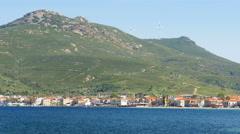 Seaside summer travel destination, yeni foca, turkey Stock Footage