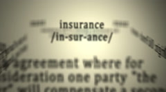 Definition: Insurance Stock Footage