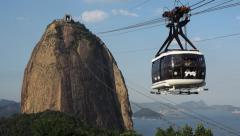 Sugarloaf Mountain Cable Car (Bondinho), Rio de Janeiro, Brazil Stock Footage