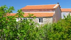 Traditional turkish houses, travel destination, alacati, cesme, turkey Stock Footage