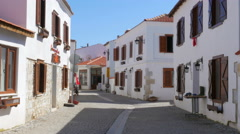 Cittaslow, slow city sigacik, seferihisar, turkey Stock Footage