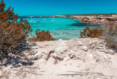 Cala Saona beach in Formentera, Spain - stock photo