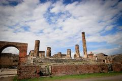 Inside the Pompeii excavation site - stock photo
