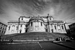 Exterior of Basilica Papale di Santa Maria Maggiore - stock photo
