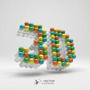 3d icon. Web sign. Design element. Vector illustration Stock Illustration