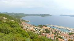Kas, Turkey, turkish mainland and Meis Island, Greece - stock footage
