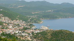 Kas, Turkey, turkish mainland and Meis Island, Greece - stock footage