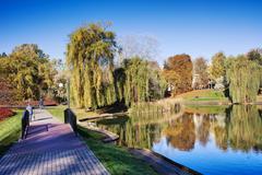 Moczydlo Park in Warsaw - stock photo
