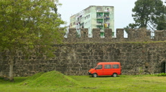Gonio fortress and georgian suburbs, batumi, georgia Stock Footage
