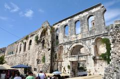 Mediterranean city of Split, Croatia - stock photo