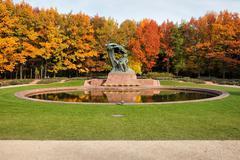 Autumn in Royal Lazienki Gardens in Warsaw Stock Photos