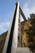 Almada Lift in Portugal Stock Photos