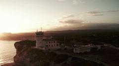 Aerial View of Corsica Coastline Bonifacio Stock Footage