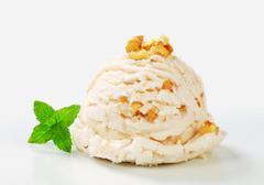 Scoop of walnut ice cream - stock photo
