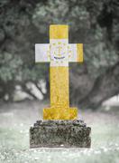 Gravestone in the cemetery - Rhode Island Stock Photos