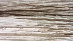 Vintage old wood table 4k Stock Footage