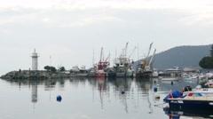 NARLI, KUMLA, GEMLIK, BURSA, TURKEY: fishing village Stock Footage