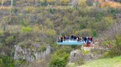 INCEKAYA CANYON, SAFRANBOLU, TURKEY View from crystal terrace Stock Footage
