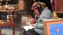 SAFRANBOLU, TURKEY: handmade ornament maker Stock Footage