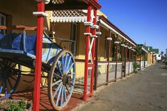 Die Tuishuise guest cottages, Cradock, Eastern Cape, South Africa. Stock Photos