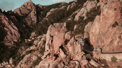Aerial View of Calanche of Piana Stock Footage