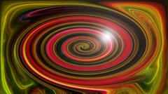Abstract saturated twirl of colors - stock illustration