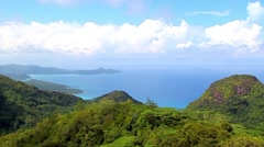 Beautiful tropical forest on the Seychelles Islands Stock Footage