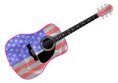 Stars and Stripes Guitar Stock Illustration