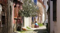 AYVALIK, TURKEY: traditional turkish houses, travel destination Stock Footage