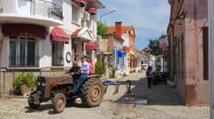 CUNDA, TURKEY: traditional turkish houses, travel destination Stock Footage