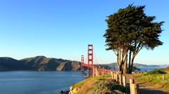 Stock Video Footage of The Golden Gate Bridge, San Francisco
