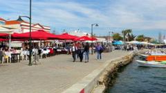 CUNDA, AYVALIK, TURKEY: daily life marina seaside Stock Footage