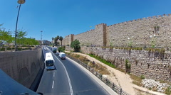 The old city walls Stock Footage