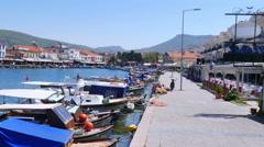 FOCA, TURKEY: seaside summer travel destination Stock Footage