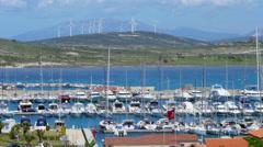 ALACATI, CESME, TURKEY: marina view, day Stock Footage