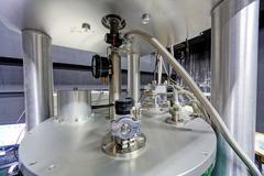 Detail of machinery in physics laboratory - stock photo