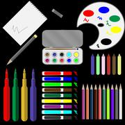 Stock Illustration of Set of drawing tools