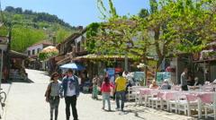 SELCUK, SIRINCE, TURKEY: tourist people travel village Stock Footage