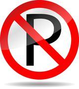 Ban parking - stock illustration