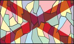 Alabama Stained Glass Window - stock illustration