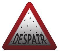 Despair Signpost - stock illustration