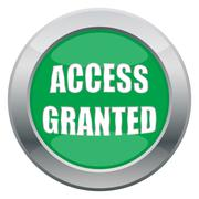 Access Granted Icon Stock Illustration