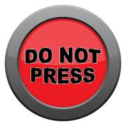 Do Not Press Dark Metal Icon Stock Illustration