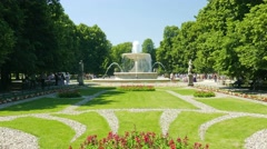 Warsaw, Poland. The Saxon Garden - stock footage