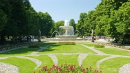Stock Video Footage of Warsaw, Poland. The Saxon Garden