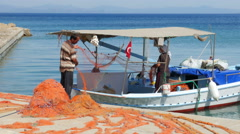 DATCA, TURKEY: Fishermen working Stock Footage
