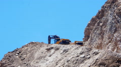 DATCA, TURKEY: quarry, stone pit work area Stock Footage