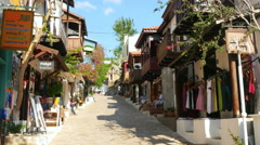 Stock Video Footage of KAS, ANTALYA, TURKEY: Shops at narrow streets